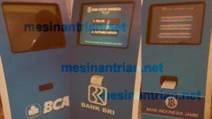 mesin antrian bank BCA, BNI, BI