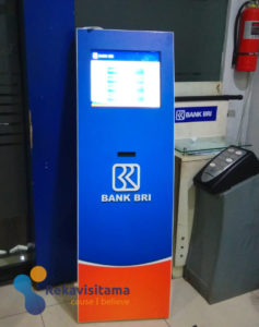mesin antrian kiosk bank bri-sistem antrian