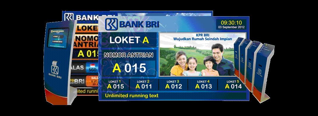 Aplikasi mesin antrian bank BRI