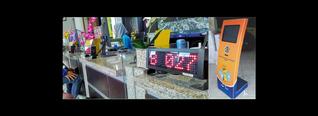 display mesin antrian kantor pajak