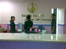 Display antrian mesin antrian bank Jatim